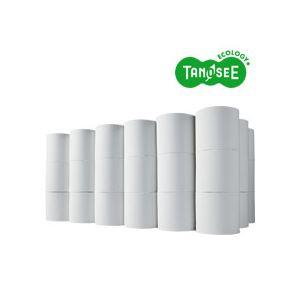 (まとめ)TANOSEE トイレットペーパー シングル 芯なし 130m 無包装 48ロール入×10ケース - 拡大画像