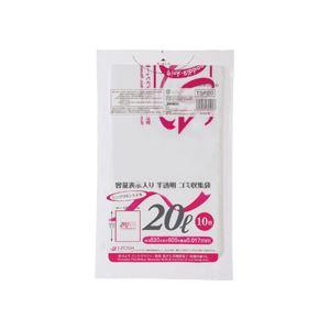 (まとめ)容量表示入りゴミ袋ピンクリボンモデル20L10枚入×60パック