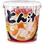(まとめ)おいしいね!! とん汁カップ 60g 6個入