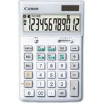 キヤノン Canon 新・W税計算シリーズ HS-1200WT SOB 12桁 スリム卓上サイズ ホワイト 9090B001 1台