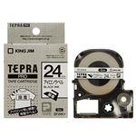 (まとめ) キングジム テプラ PRO テープカートリッジ アイロンラベル 24mm 黒文字 SF24K 1個 【×4セット】