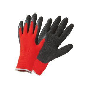 (まとめ) TANOSEE 天然ゴム手袋薄手 L レッド 1パック(10双) 【×3セット】
