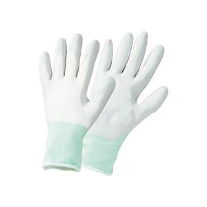 (まとめ) TANOSEE ニトリルゴム手袋薄手 L グレー 1パック(5双) 【×5セット】
