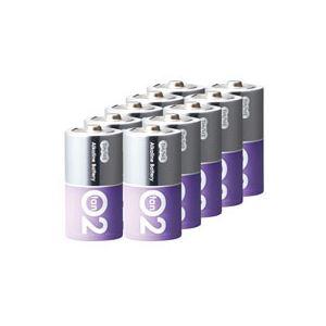 (まとめ)TANOSEEアルカリ乾電池プレミアム単2形1箱(10本)【×4セット】
