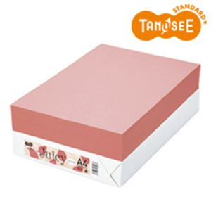 TANOSEE カラーペーパー Juicy パパイヤ A4 500枚 h01