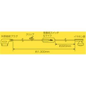 インナーイヤー型イヤホン ハンズフリートーク docomo/softbank外部接続端子 T6111 h02