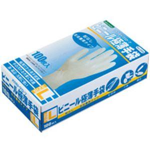 ビニール極薄手袋 粉なし 100枚入 L