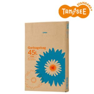 TANOSEE ゴミ袋 半透明 45L 110枚BOX