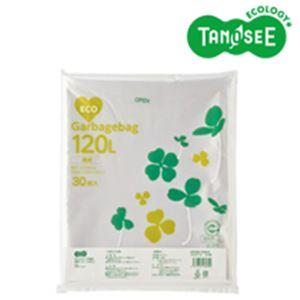 TANOSEE ポリエチレン収集袋 透明 120L 30枚入