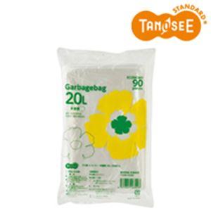 (まとめ)TANOSEE ゴミ袋エコノミー 半透明 20L 90枚入×20パック