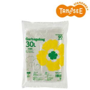 (まとめ)TANOSEE ゴミ袋エコノミー 半透明 30L 90枚入×15パック