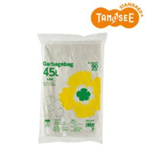 (まとめ)TANOSEE ゴミ袋エコノミー 半透明 45L 90枚入×10パック