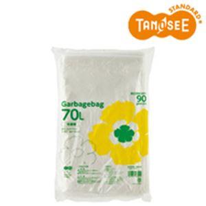 (まとめ)TANOSEE ゴミ袋エコノミー 半透明 70L 90枚入×5パック