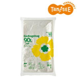 (まとめ)TANOSEE ゴミ袋エコノミー 半透明 90L 90枚入×5パック