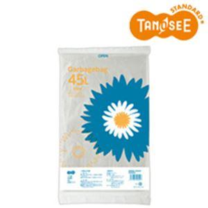 (まとめ)TANOSEE ゴミ袋 半透明 45L 20枚入×30パック