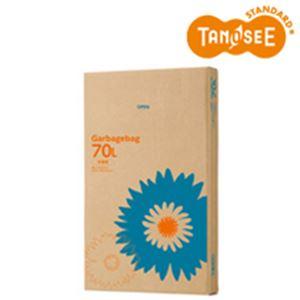 (まとめ)TANOSEE ゴミ袋 半透明 70L 110枚入×4箱