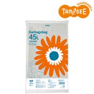 (まとめ)TANOSEE ゴミ袋 乳白半透明 45L 20枚入×30パック