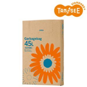 (まとめ)TANOSEE ゴミ袋 乳白半透明 45L 110枚入×6箱