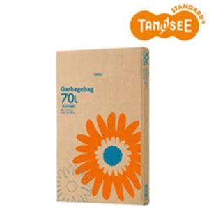(まとめ)TANOSEE ゴミ袋 乳白半透明 70L 110枚入×4箱