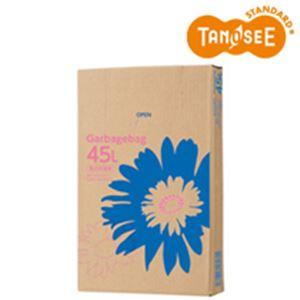 (まとめ)TANOSEE ゴミ袋 乳白半透明 45L 110枚入×6パック