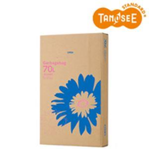 (まとめ)TANOSEE ゴミ袋 乳白半透明 70L 110枚入×4パック