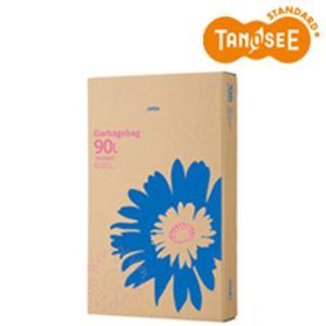 (まとめ)TANOSEE ゴミ袋 乳白半透明 90L 110枚入×3パック