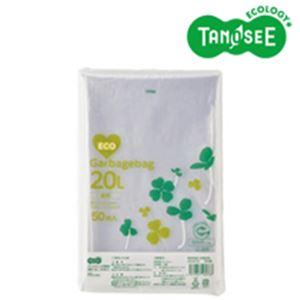 (まとめ)TANOSEE ポリエチレン収集袋 透明 20L 50枚入×15パック