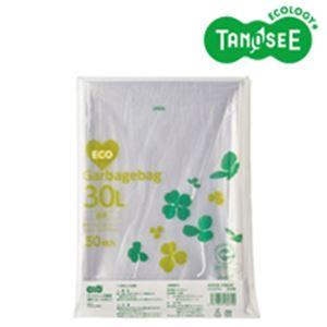 (まとめ)TANOSEE ポリエチレン収集袋 透明 30L 50枚入×15パック