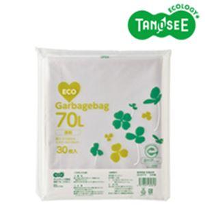 (まとめ)TANOSEE ポリエチレン収集袋 透明 70L 30枚入×15パック