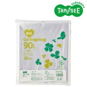 (まとめ)TANOSEE ポリエチレン収集袋 透明 90L 30枚入×10パック