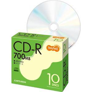 TANOSEE データ用CD-R 700MB 48倍速 5mmスリムケース SR80FC10T 1パック(10枚) 【×10セット】 h01
