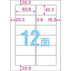 TANOSEE 屋外用ラベル レーザー用 A4 12面 1冊(20枚) 【×5セット】 h02