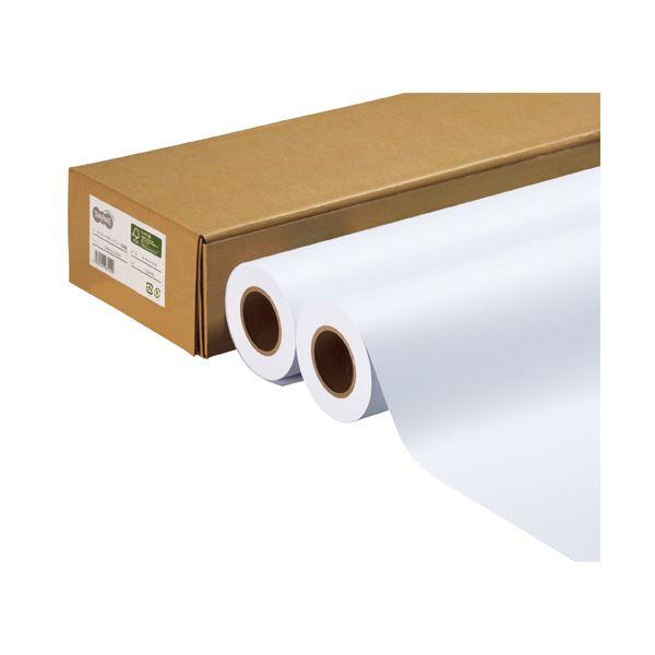 TANOSEE ハイグレード普通紙 36インチロール 914mm×50m 1箱(2本) 【×2セット】f00