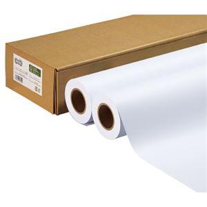 (まとめ)TANOSEEハイグレード普通紙A2ロール420mm×50m1箱(2本)【×2セット】