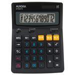 (まとめ) AURORA 大型電卓 12桁 デスクトップタイプ DT950TX-B 1台 【×3セット】