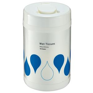 (まとめ) TANOSEE ウェットティッシュ ボトル本体 1本(100枚) 【×10セット】