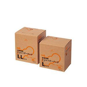 (まとめ) TANOSEE シュレッダーバッグ 耳付 半透明 LLサイズ 0.04mm厚 BOXタイプ 1箱(100枚) 【×2セット】