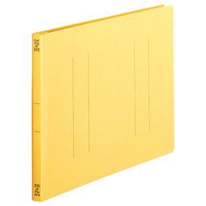 (まとめ) TANOSEE フラットファイル(スタンダードカラー) A4ヨコ 150枚収容 背幅18mm 黄 1パック(10冊) 【×5セット】