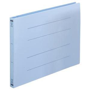 (まとめ)TANOSEEフラットファイル(再生PP)A4ヨコ150枚収容背幅18mmブルー1パック(5冊)【×5セット】