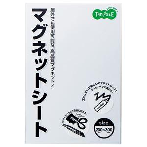 (まとめ) TANOSEE マグネットカラーシート ワイド 300×200×0.8mm 白 1枚 【×10セット】