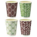 (まとめ) TANOSEE 断熱レリーフカップ 和-Taste 273ml(9オンス) 1パック(50個) 【×5セット】