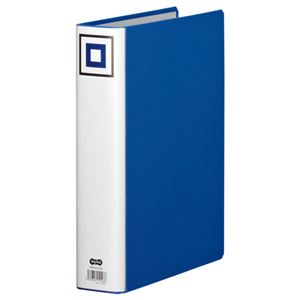 (まとめ) TANOSEE 両開きパイプ式ファイルV A4タテ 500枚収容 背幅65mm 青 1冊 【×15セット】