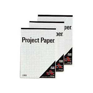 (まとめ) オキナ プロジェクトペーパー A4 10mm方眼 100枚 PPA40S 1冊 【×15セット】