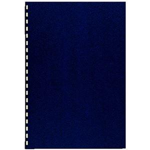 (まとめ) カール事務器 コームリング製本カバー ハード ブルー TC-51B 1パック(5枚) 【×10セット】