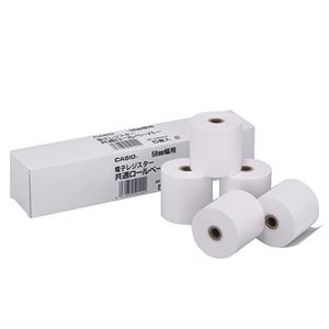 (まとめ)カシオCASIO電子レジスター用ロールペーパー紙幅58mm107ER用RP-5860X51パック(5個)【×10セット】