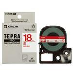 (まとめ) キングジム テプラ PRO テープカートリッジ 18mm 白/赤文字 SS18R 1個 【×4セット】