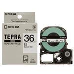 (まとめ) キングジム テプラ PRO テープカートリッジ 36mm 白/黒文字 SS36K 1個 【×2セット】