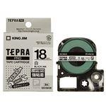 (まとめ) キングジム テプラ PRO テープカートリッジ 強粘着 18mm 白/黒文字 SS18KW 1個 【×4セット】