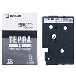 (まとめ) キングジム テプラ TR テープカートリッジ 9mm 透明/黒文字 TT9KM 1個 【×4セット】