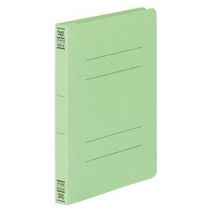 (まとめ) コクヨ フラットファイルV(樹脂製とじ具) B6タテ 150枚収容 背幅18mm 緑 フ-V13G 1パック(10冊) 【×5セット】